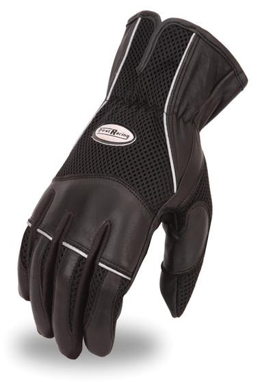 Men's Combination Leather and Mesh Gloves - SKU FR105GL-FM