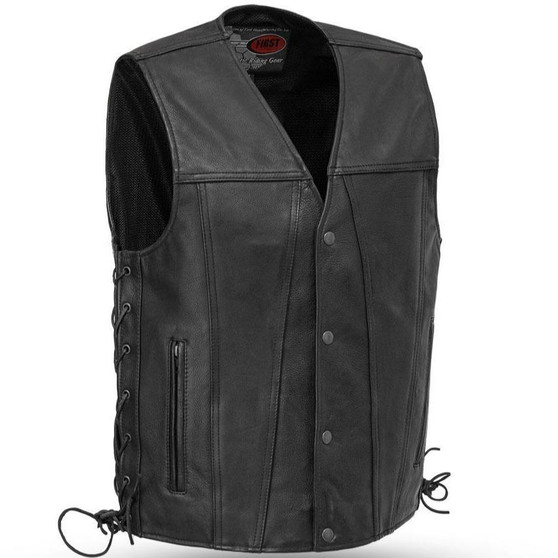Gambler - Men's Leather Motorcycle Vest - Sizes Up To 8XL - SKU GRL-FIM618CFD-FM