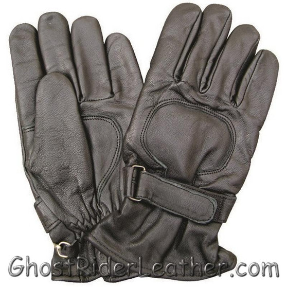 Lined Leather Riding Gloves with Velcro Tab - SKU GRL-AL3063-AL