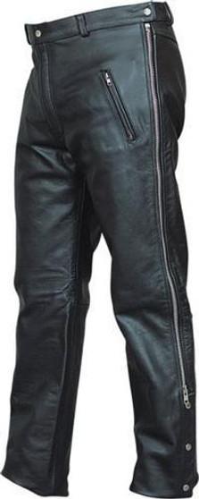 Mens Leather Chap Pants with Zipper Pockets - SKU GRL-AL2510-AL