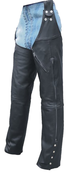 Mens Motorcycle Leather Chaps Hook To Your Belt - SKU GRL-AL2419-AL