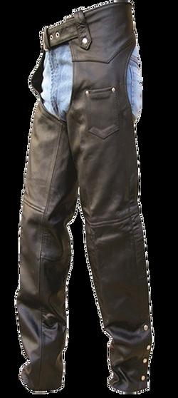 Mens Tall Length Motorcycle Leather Chaps - SKU AL2409-TALL-AL