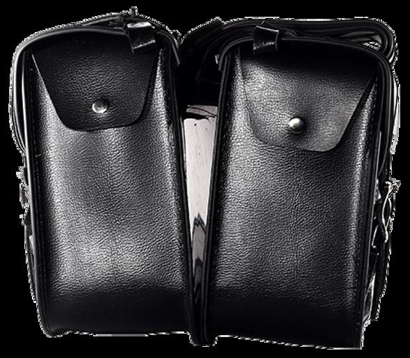 Saddlebags  - PVC - Zip Off - Motorcycle Storage - SD4072-PV-DL