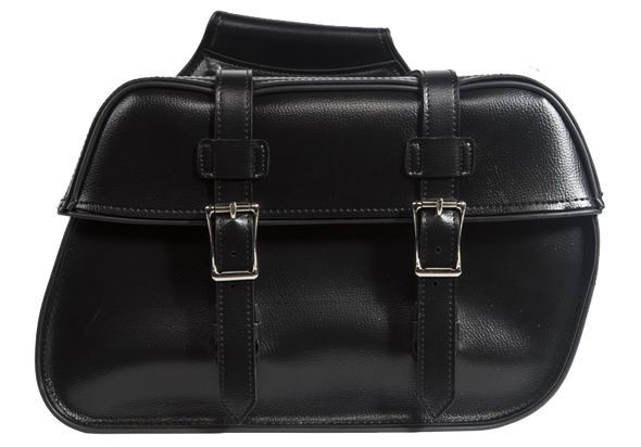 Saddlebags - PVC - Black - Motorcycle Storage - SD4079-PV-DL