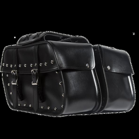 Saddlebags - PVC - Studs - Motorcycle Luggage - SD4079-STUD-PV-DL