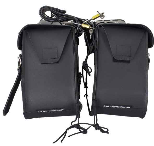 Saddlebags - PVC - Studs - Gun Pockets - Zip Off - SD4090-PV-DL