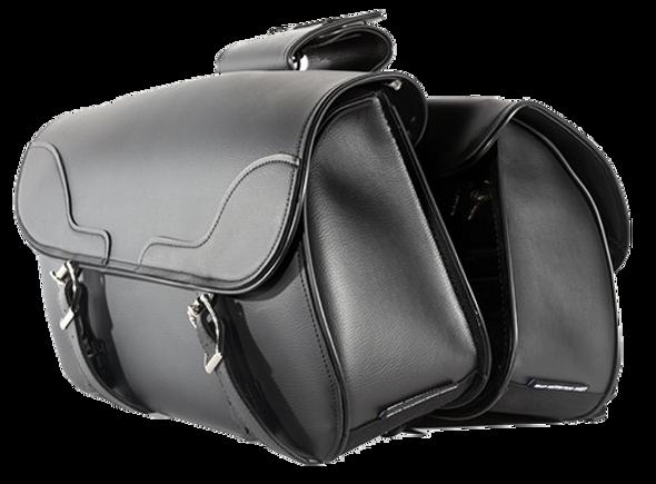 PVC Motorcycle Slanted Saddlebags - Motorcycle Luggage - SKU SD4089-NS-PV-DL
