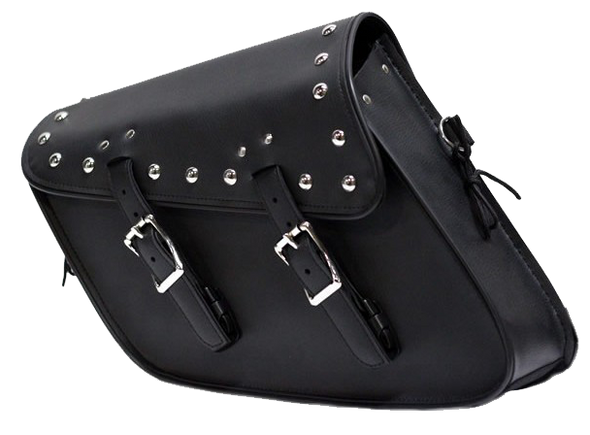 PVC Motorcycle Solo Swing Arm Bag with Studs - Motorcycle Storage - SKU SD4093-STUD-SOLO-DL