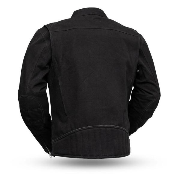 Men's Canvas Motorcycle Jacket - Qualifier - Up To 5XL - FIM284CNVS-FM