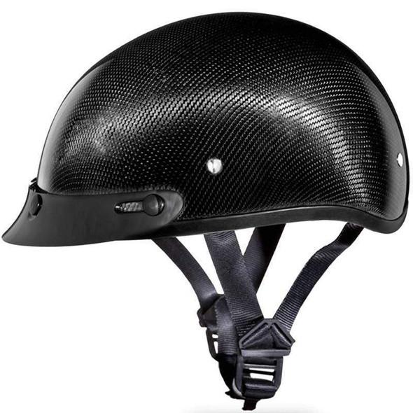 Real Carbon Fiber DOT Daytona Skull Cap Motorcycle Helmet With Or Without Visor - SKU D2-G-GNS-DH