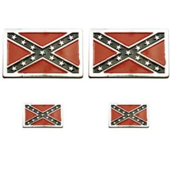 Biker Pin Pack of Four Pins - Rebel Flag - Confederate Flag - SDL-315-DL