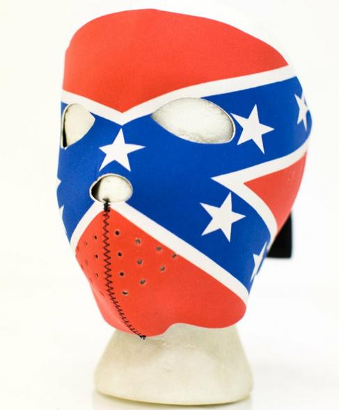 Rebel Flag Full Face Neoprene Mask - Motorcycle Riding Mask - FMT14-REBEL-HI