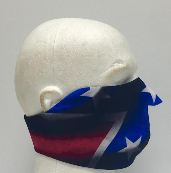 Rebel Flag Neoprene Half Face Mask - Motorcycle Riding Mask - FMY08-HI