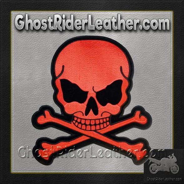 Red Monster Skull Crossbones Patch / SKU GRL-MK3-DL
