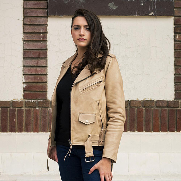 Rockstar - Women's Leather Jacket - Choice of 3 Colors - WBL1082