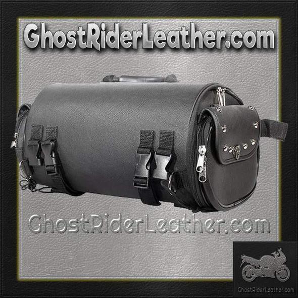Sissy Bar Bag - Duffle Style - Studs - Biker Gear - Motorcycle - SB77-DL