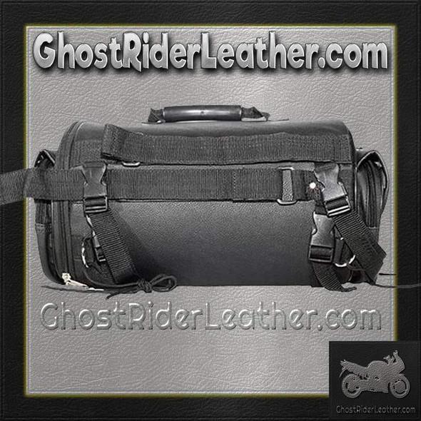 Round Motorcycle Sissy Bar Duffle Bag with Studs / SKU GRL-SB77-DL