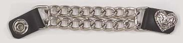 Set of Four Fancy Heart Vest Extenders with Chrome Chain - AC1078-DL