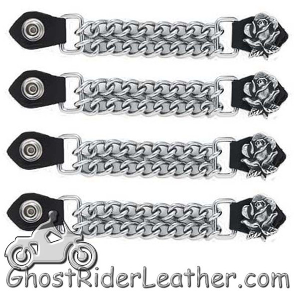Set of Four Rose Vest Extenders with Chrome Chain - AC1060-DL