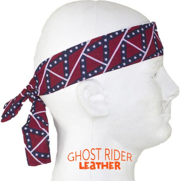 Set of Two Rebel Flag Biker Headbands - Confederate - AC9-REBEL-DL