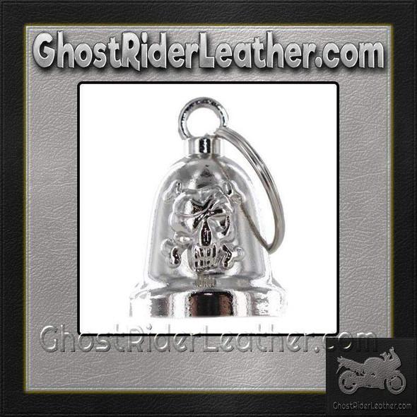 Skull and Crossbones - Chrome Motorcycle Ride Bell - SKU GRL-BLC25-DL