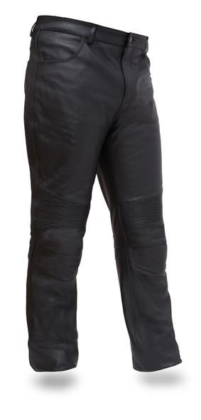 Leather Pants - Men's - Jean Style - Motorcycle - FIM834CSL-FM