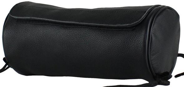 New Leather Motorcycle Tool Bag - Soft Fork Bag with Inside Pocket - SKU TB3021-NEW-DL