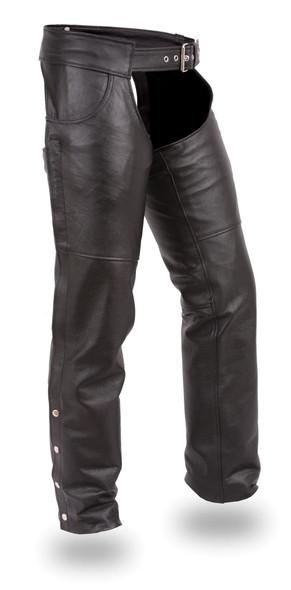 Leather Chaps -Unisex - Stampede Black - FIM835NOC-FM