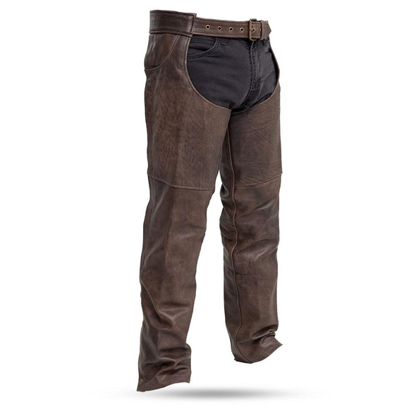 Leather Chaps- Unisex - Brown - Motorcycle - Stampede - FIM835CAN-FM
