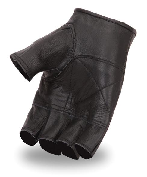 Two Pair of Fingerless Leather Gloves - Biker Gloves - SKU FI160GL-FM