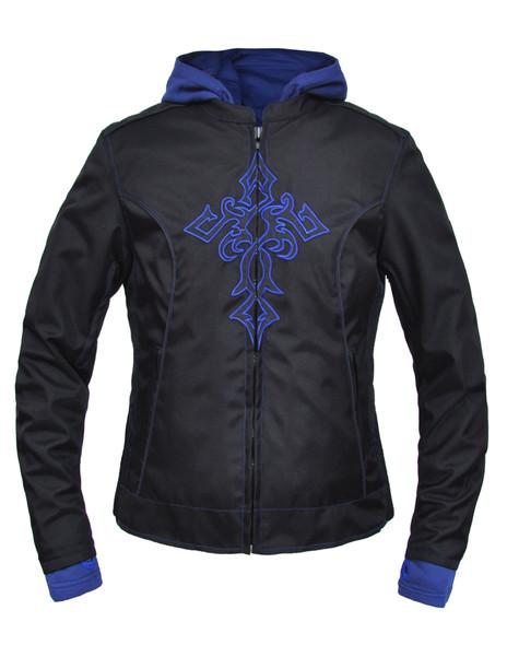 Women's Blue Textile Jacket