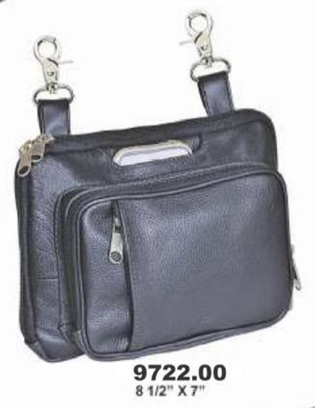 Leather Clip On Bag - Concealed Carry - Women's - Belt Bags - 9722-00-UN