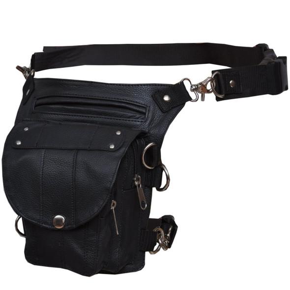 Leather Thigh Bags - Women's - Black - 2083-00-UN