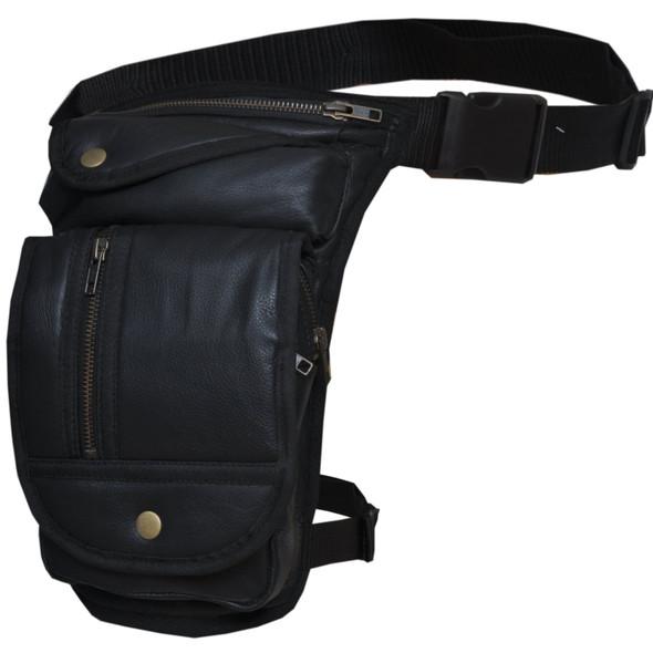 Leather Thigh Bags - Women's - Black - 9799-00-UN