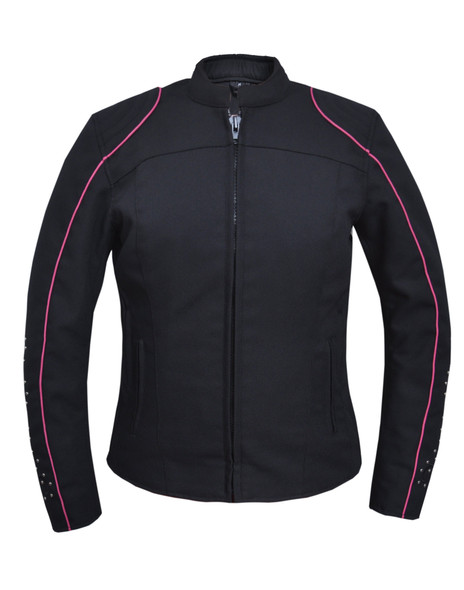UNIK Ladies Nylon Textile Jacket With Hot Pink Wings - 3692-24-UN