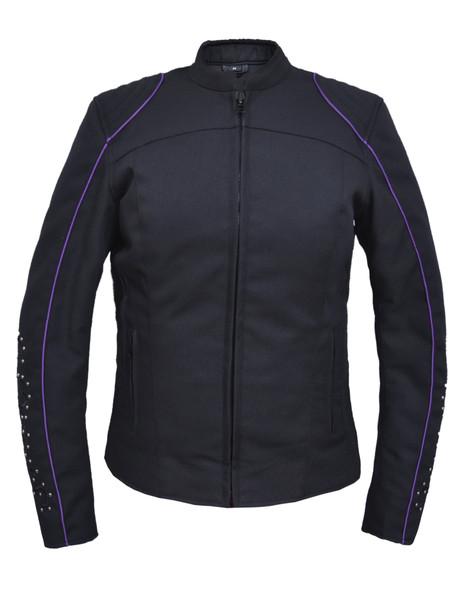 UNIK Ladies Nylon Textile Jacket With Purple Wings - 3692-17-UN