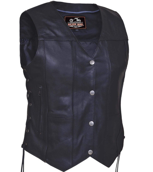 UNIK Ladies Premium 10-Pocket Vest With Side Laces - SKU GRL-2675-00-UN