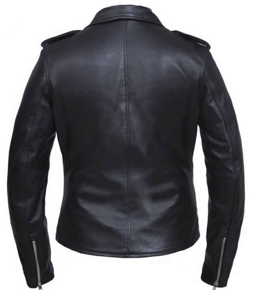 UNIK Ladies Premium Lambskin Leather Motorcycle Jacket - 6832-00-UN