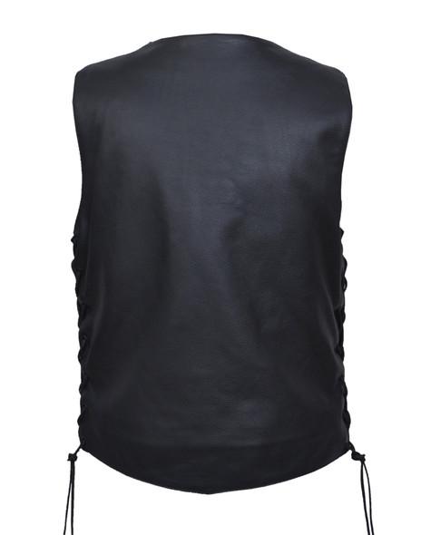 Leather Motorcycle Vest - Women's - Side Laces - 2659-00-UN