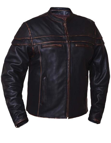 UNIK Men's Colorado Brown Ultra Leather Motorcycle Jacket
