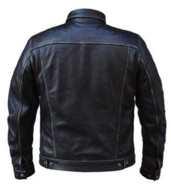 Men's Leather Shirt Jacket - Durango Gray - 6643-AGR-UN