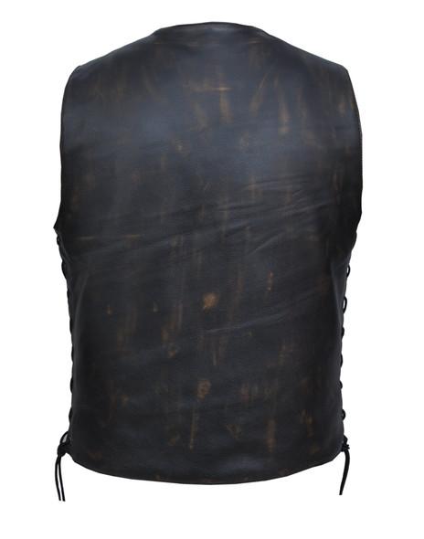 UNIK Men's Nevada Brown 10-Pocket Vest - SKU GRL-2632-ABR-D.BROWN-UN