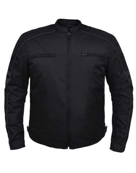 Men's Nylon Textile Racer Style Jacket -SKU K-2148-00-UN