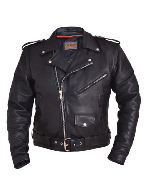Men's Ultra Leather Motorcycle Jacket - Biker Jacket - 312-00-UN