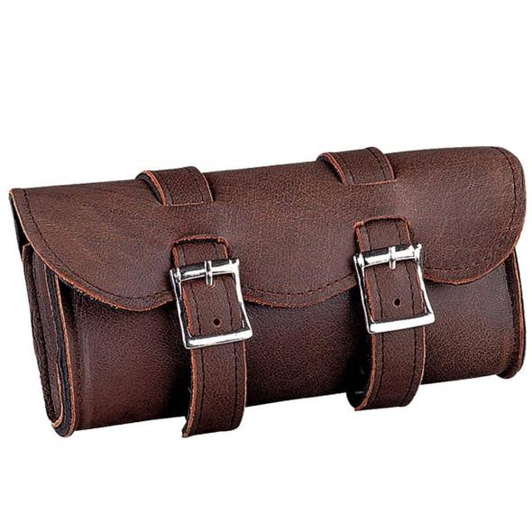 UNIK Soft Brown Leather Tool Bag - Motorcycle Gear Bags - SKU 1609-BR-UN