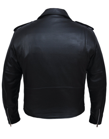 Big and Tall Men's Leather Motorcycle Jacket - Up to Size 66 - 13-ZO-UN
