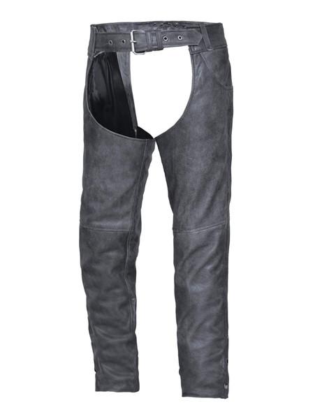 UNIK Tombstone Gray Leather Chaps - SKU 720-GN-UN