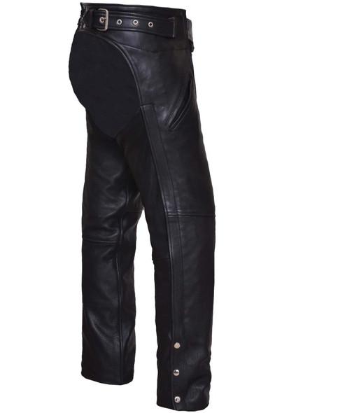 UNIK Unisex Ultra Leather Motorcycle Chaps - SKU GRL-6126-00-UN