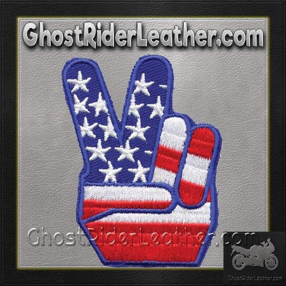 USA Flag Peace Sign Vest Patch - You Get TWO Patches - PAT-D489-DL