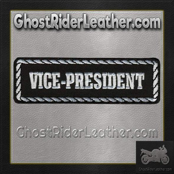 Vice-President Motorcycle Club Vest Patch - SKU GRL-PPD1007-HI